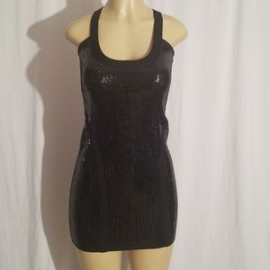 Bebe Dress Black Sequence  Size Small mini